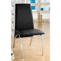 'Viscaria' Black Contemporary Dining Chairs (Set of 2)