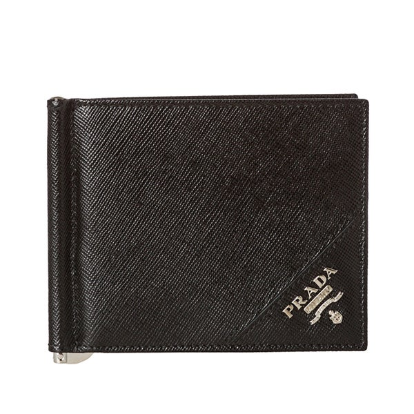 b57a81d999e525 Shop Prada Saffiano Leather Money Clip Wallet - Free Shipping Today ...