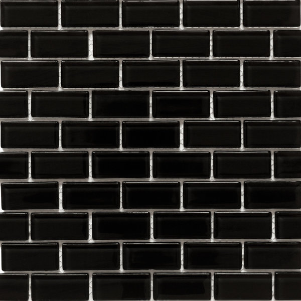 Martini Mosaic Essen Very Black Glass 11.75 x 11.75-inch ...