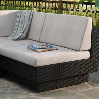 Sonax Park Terrace Textured Black Armless Middle Seat