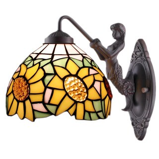Amora Lighting Tiffany Style Sunflower Wall Lamp