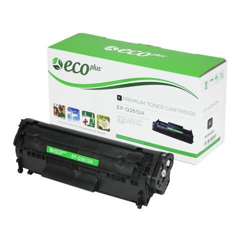 EcoPlus HP Q2612A Re-manufactured Toner Cartridge (Black) - Black