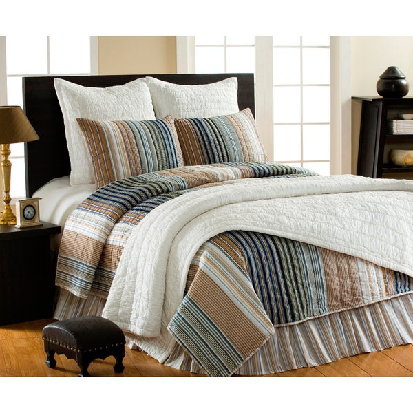 William Striped 3-piece Quilt Set