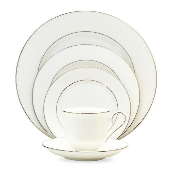 Shop Lenox \'Hannah Platinum\' 20-piece Dinnerware Set - Free Shipping ...