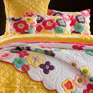 Kamila Flower Sham https://ak1.ostkcdn.com/images/products/8107931/Kamila-Girl-Flower-Quilt-and-Sham-Separates-P15456924.jpg?impolicy=medium