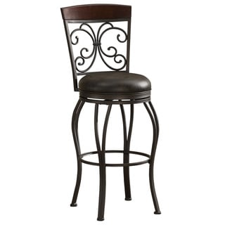 Adalyn 30-inch Leather Seat Swivel Stool