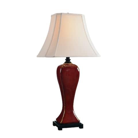 Furnas Crimson Ceramic Table Lamp
