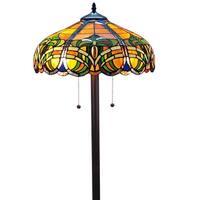 Amora Lighting Tiffany Style 2-light Baroque Floor Lamp