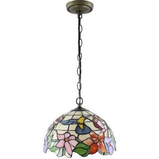 Amora Lighting Tiffany Style Hummingbird 1-light Pendant Lamp