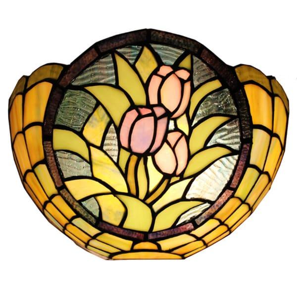 Amora Lighting Tiffany-style Style Tulips Wall Lamp