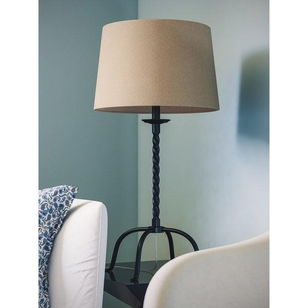 York 1-light Twisted Bronze Table Lamp