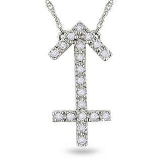 Miadora 14k White Gold 1/6ct TDW Diamond Necklace