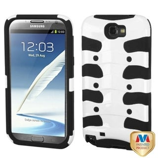 INSTEN Ivory/ Black Ribcage Phone Case Cover for Samsung Galaxy Note II T889/ I605