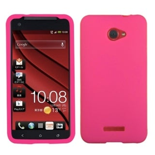 INSTEN Solid Hot Pink Skin Phone Case Cover for HTC Droid DNA