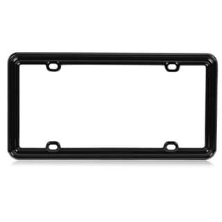 INSTEN Solid Black Plastic License Plate Frame