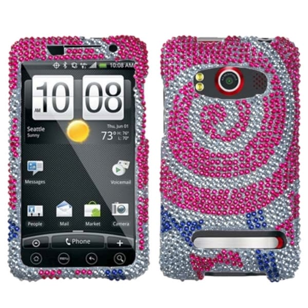 INSTEN Sugar Rush Lollipop Diamante Phone Case Cover for HTC Evo 4G