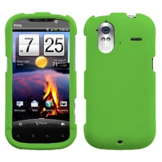 INSTEN Dark Green Rubberized Phone Case Cover for HTC Amaze 4G