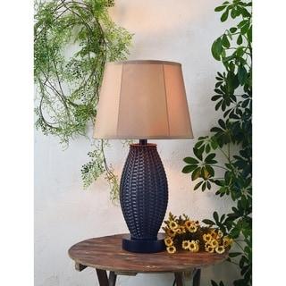 Arbroath Basketweave Bronze 29-inch Outdoor Table Lamp