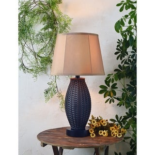 Design Craft Arbroath Basketweave Outdoor Table Lamp