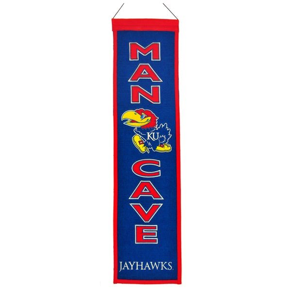 NCAA Wool Man Cave Embroidered Banner