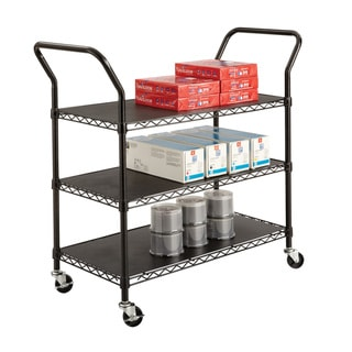Safco 3-shelf Wire Utility Cart with 600 lb Rating