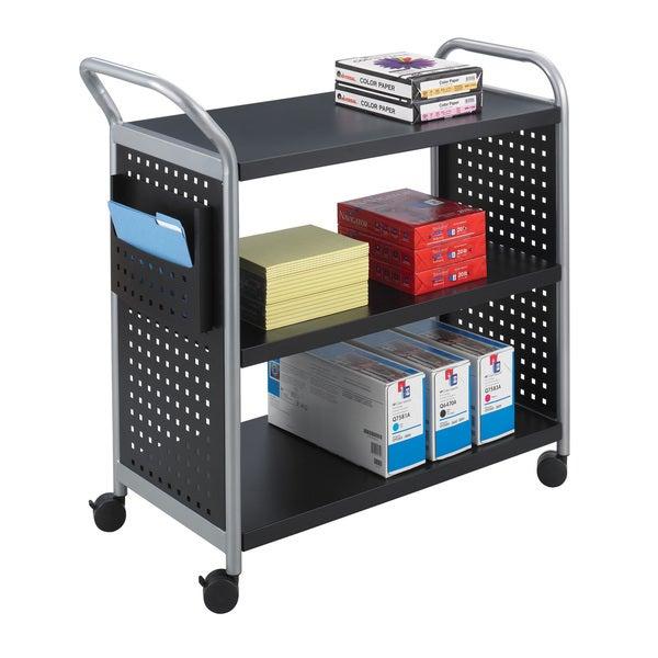 Safco Scoot 3-shelf Steel Utility Cart