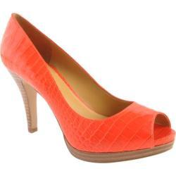 Women's Nine West Danee Orange Croc Synthetic