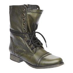 Women's Steve Madden Troopa Dark Green Leather - Free Shipping ...