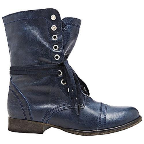 Women's Steve Madden Troopa Denim Leather - Thumbnail 1
