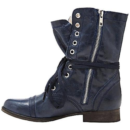 Women's Steve Madden Troopa Denim Leather - Thumbnail 2