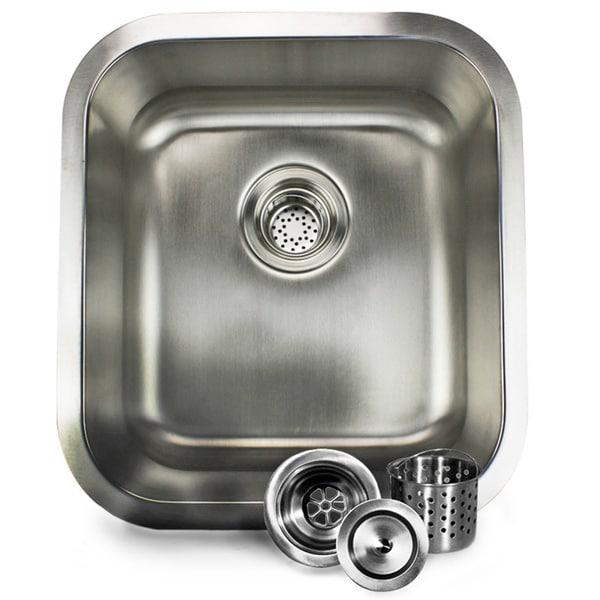 16-inch Stainless Steel Undermount Bar Sink