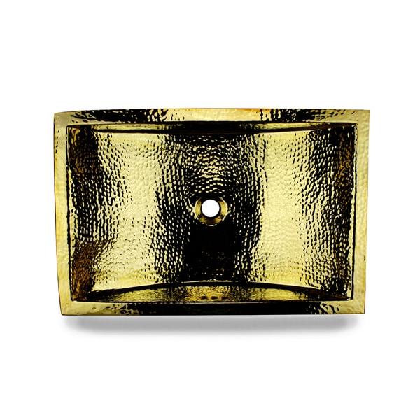 24-inch Artisan Hammered Brass Undermount Bathroom Sink