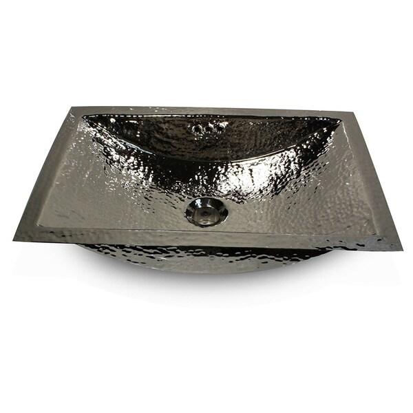 24 Inch Artisan Hammered Nickel Undermount Bathroom Sink   Free Shipping  Today   Overstock.com   15458796
