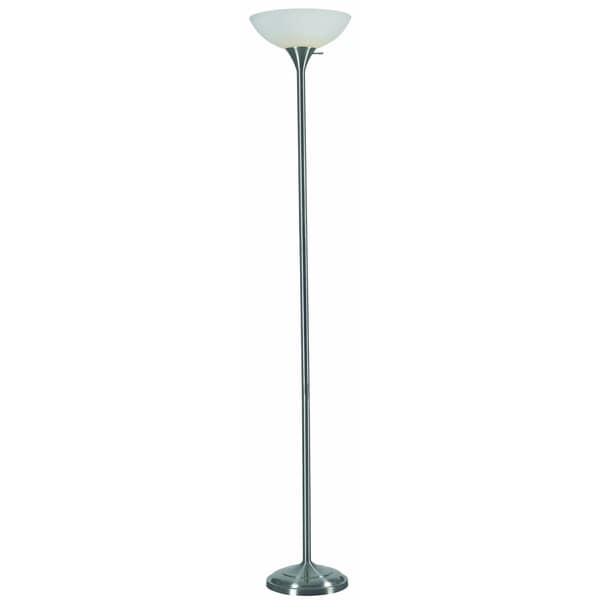 otoe 70inch high with brushed steel finish torchiere floor lamp