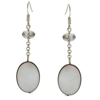 Alexa Starr Silvertone Mother Of Pearl Linear Earrings