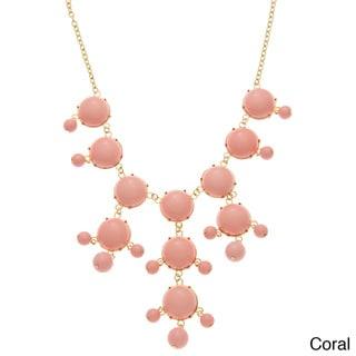 Alexa Starr Goldtone Colored Lucite Bubble Necklace