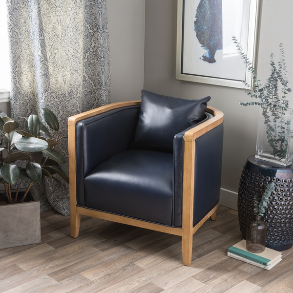 Manning Navy Blue Bonded Leather Chair Free Shipping Today – Navy Blue Leather Chairs