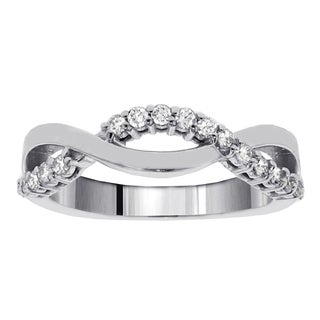 14k White Gold 1/4ct TDW Twist Diamond Ring