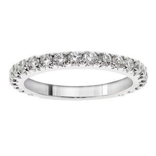 14k White Gold 7/8ct TDW Round Cut Diamond Wedding Band (F-G, SI1-SI2)