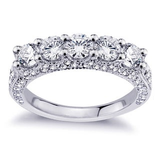 14k White Gold 2 1/2ct TDW Diamond Wedding Band (More options available)