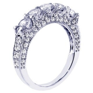 14k White Gold 2 1/2ct TDW Diamond Wedding Band (G-H, SI1-SI2)