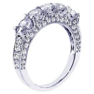 14k White Gold 2 1/2ct TDW Diamond Wedding Band