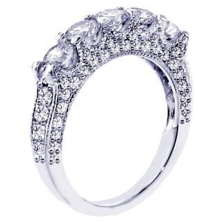 14k White Gold 2 1 2ct TDW Diamond Wedding Band