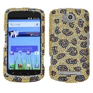 INSTEN Leopard Skin/ Camel Diamante Phone Case Cover for Coolpad 5860E Quattro 4G