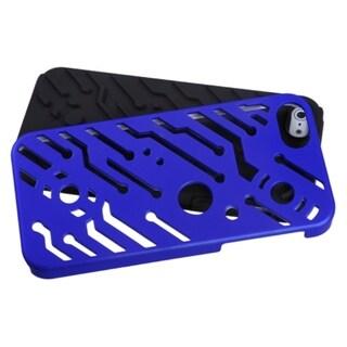 INSTEN Dark Blue/ Black Circuitboard Hybrid Phone Case for Apple iPhone 5/ 5S/ SE