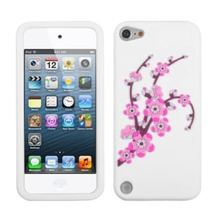 Insten White/ Pink Spring Flowers Hard Snap-on Diamond Bling Case Cover For Apple iPod Touch 5th/ 6th Gen
