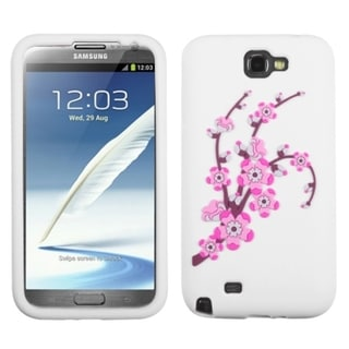 INSTEN Spring Flower/ White Phone Case Cover for Samsung Galaxy Note II T889/ I605