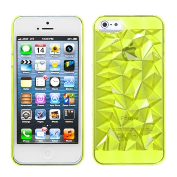 INSTEN T-Green Diamond Phone Case Cover for Apple iPhone 5
