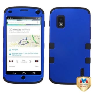 INSTEN Dark Blue/ Black TUFF Hybrid Phone Case Cover for LG E960 Nexus 4