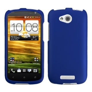 INSTEN Titanium Solid Dark Blue Phone Case Cover for HTC One VX